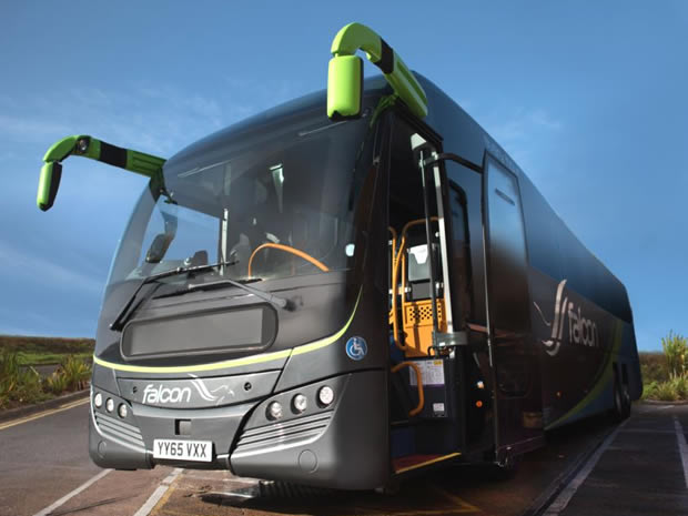 Stagecoach South West is launching a new 24/7 coach service, dubbed Falcon.